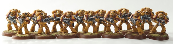 Imperial Fists Tactical Marines with Bolters