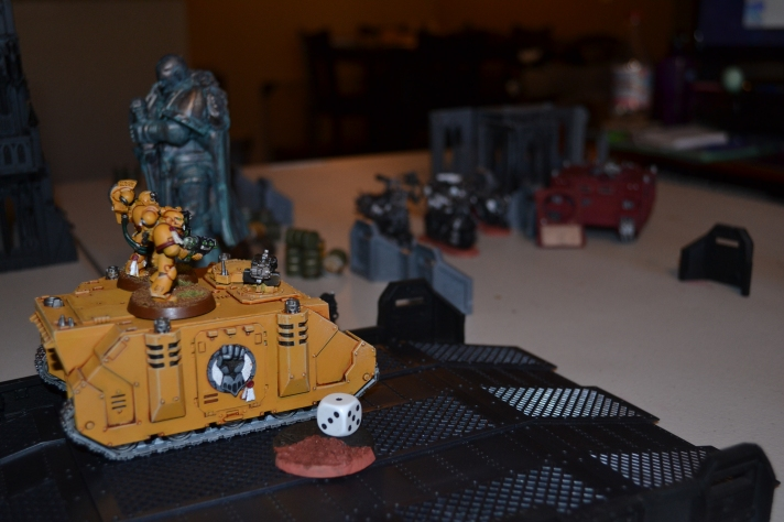 Imperial Fists Shoot Grav Cannons