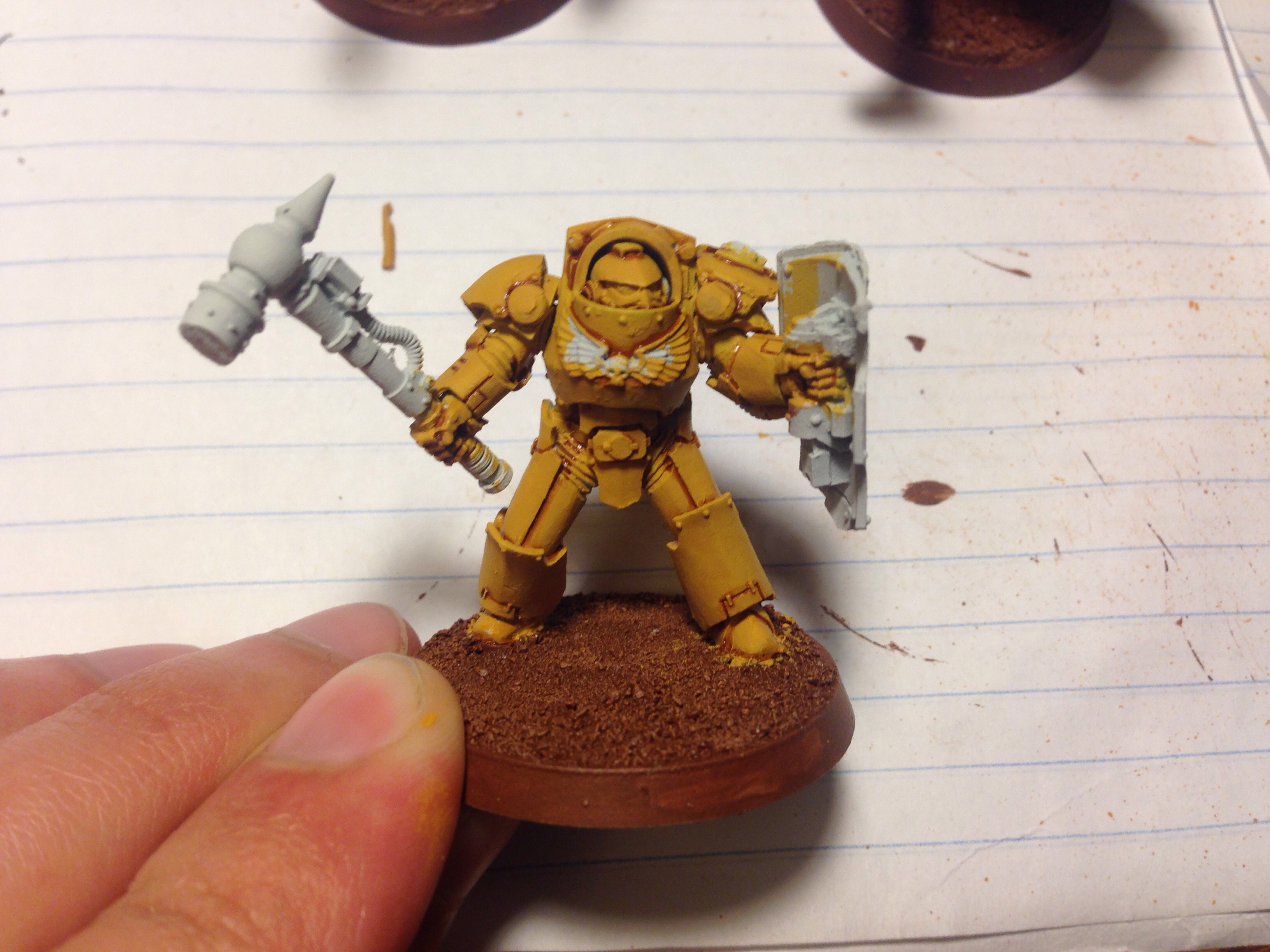 imperial fist terminator work in progress