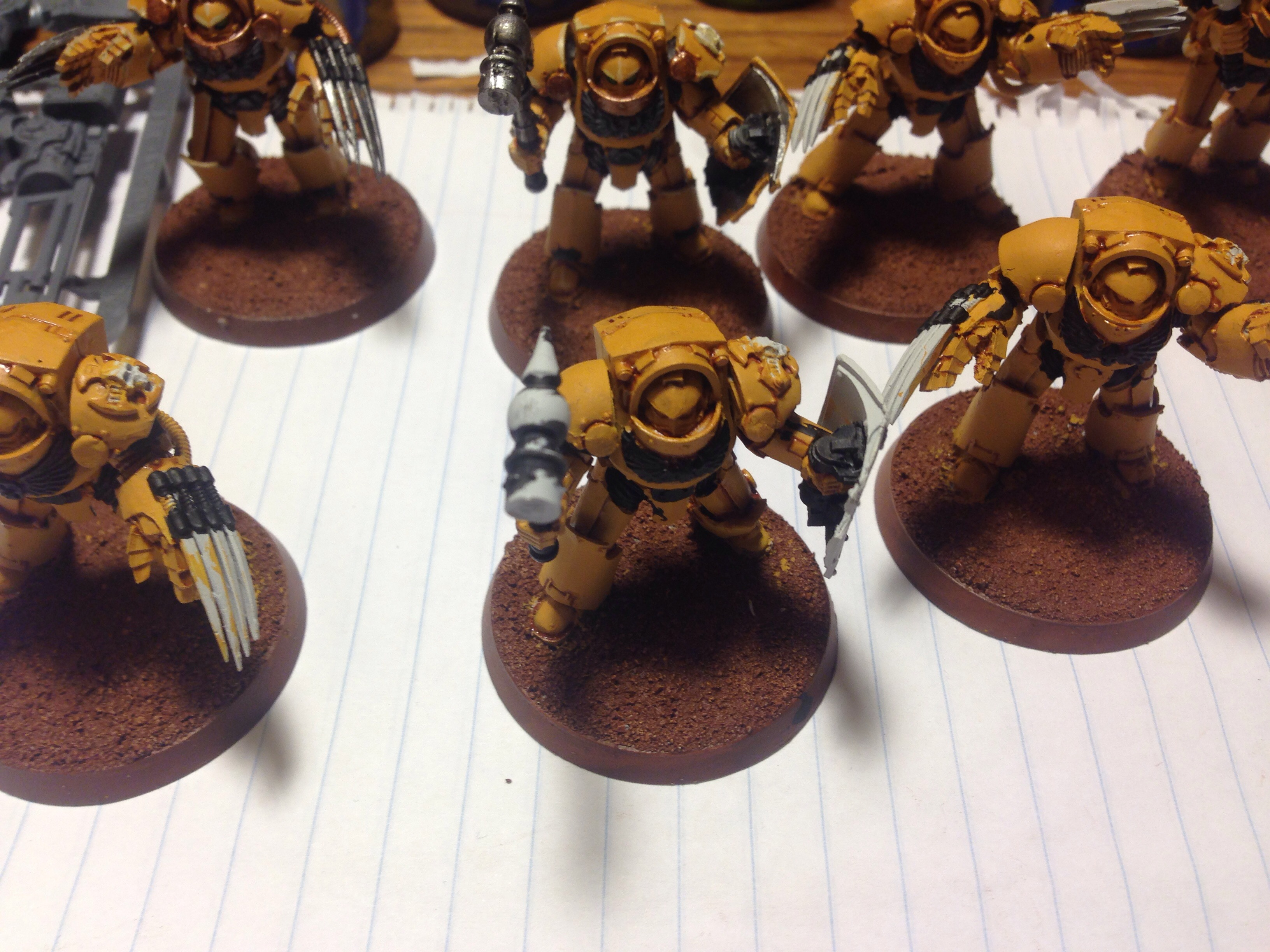 imperial fist terminators work in progress