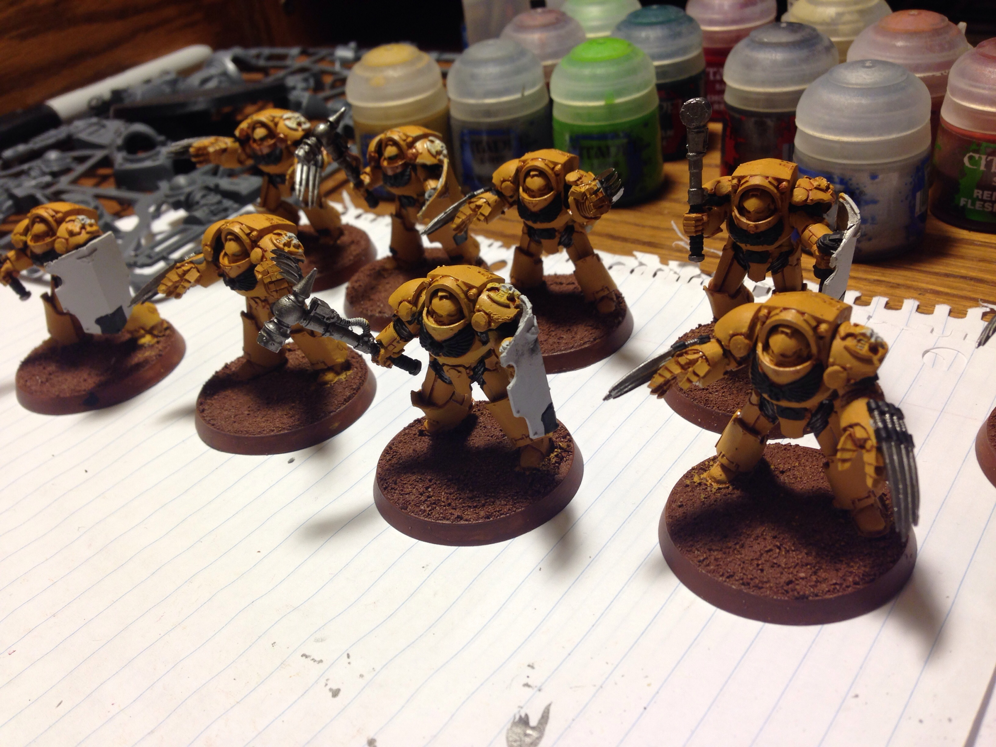 imperial fist terminators work in progress