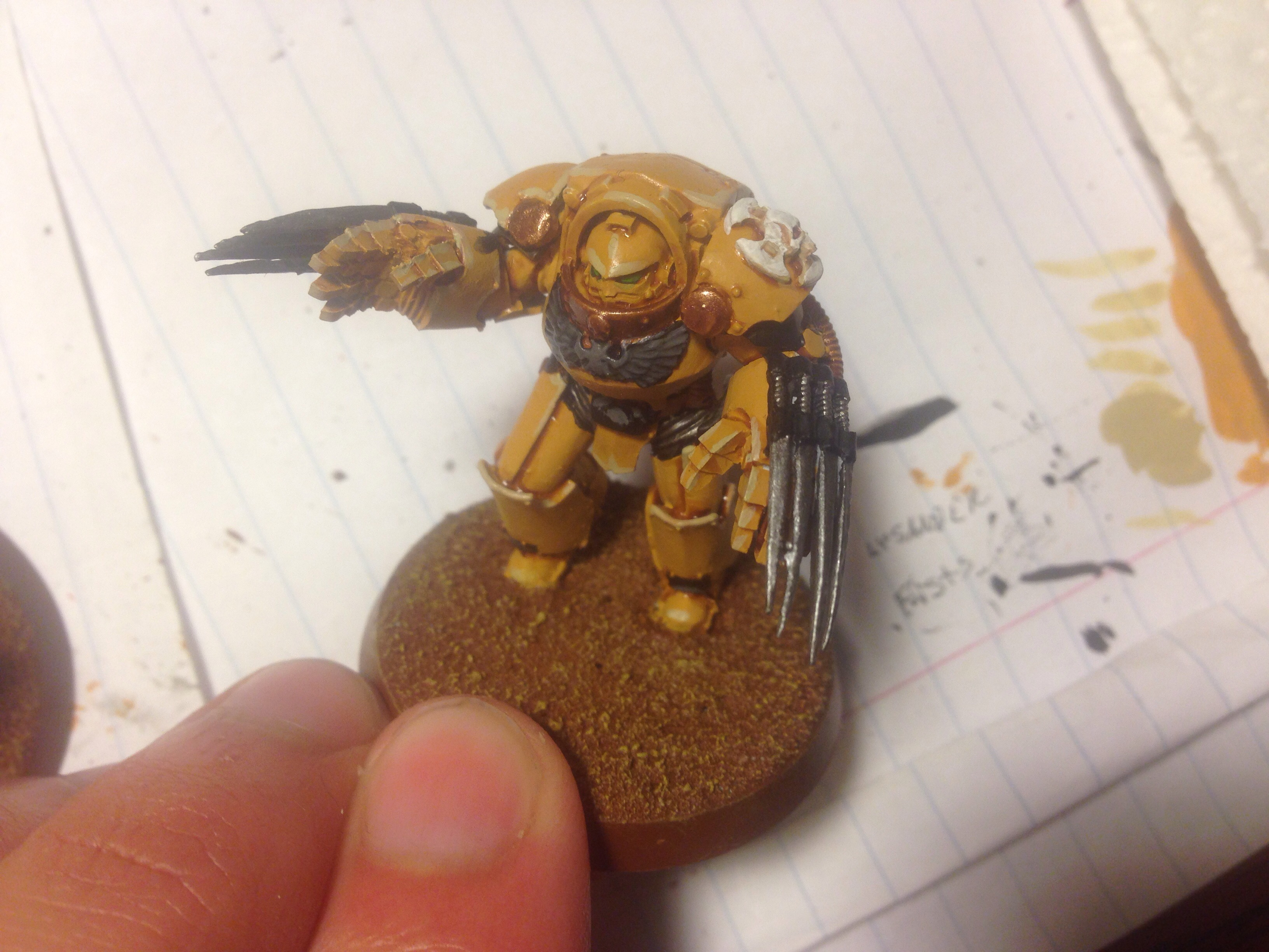 imperial fists terminator work in progress