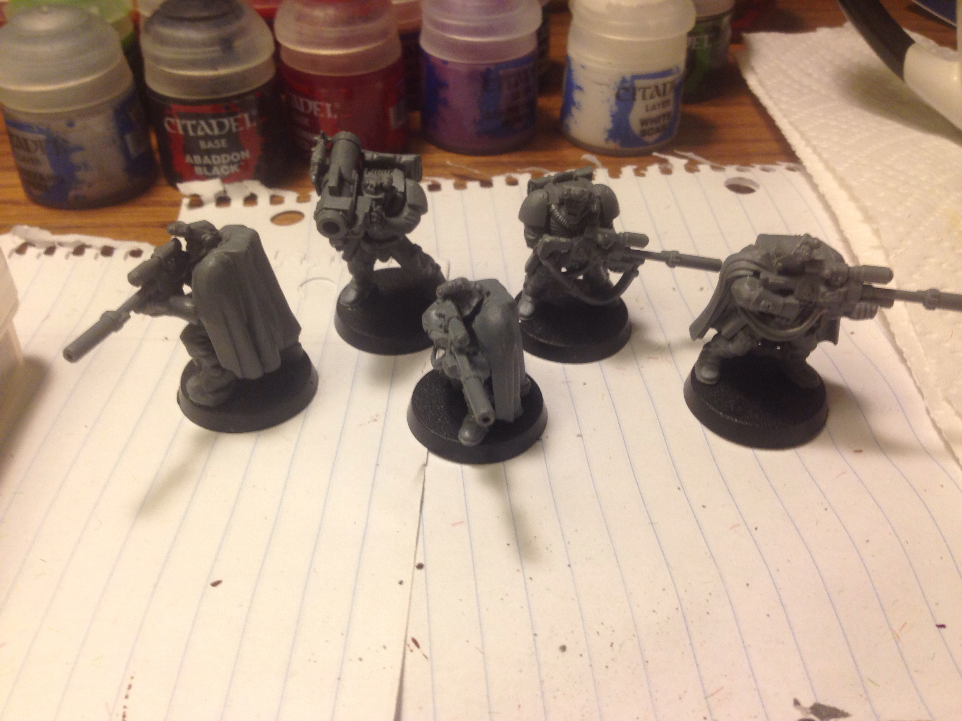 work in progress space marine scouts