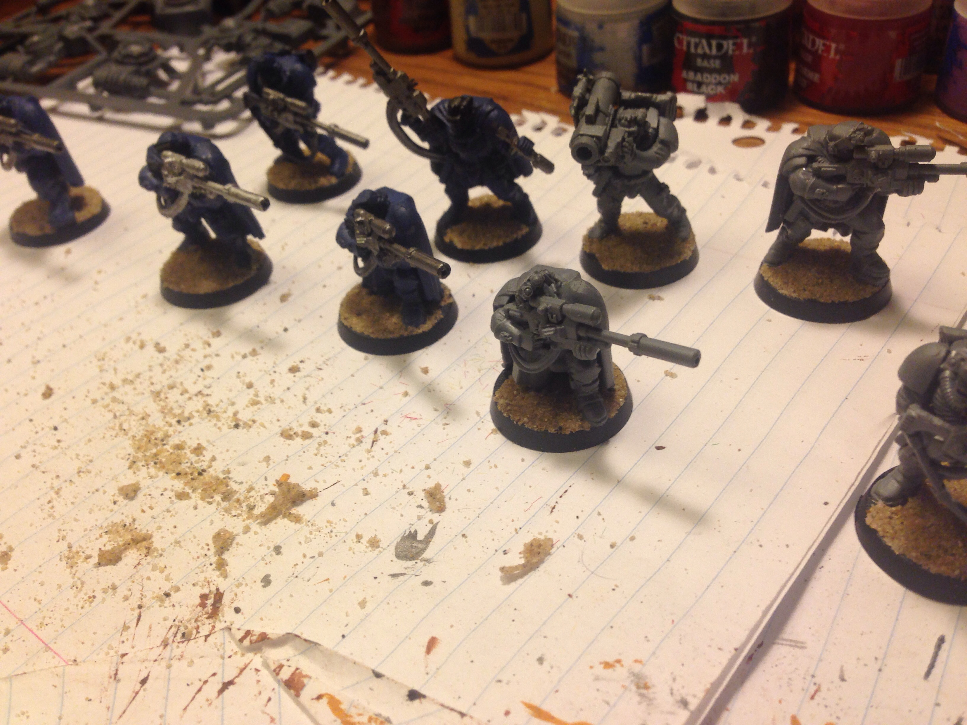 imperial fists scouts work in progress