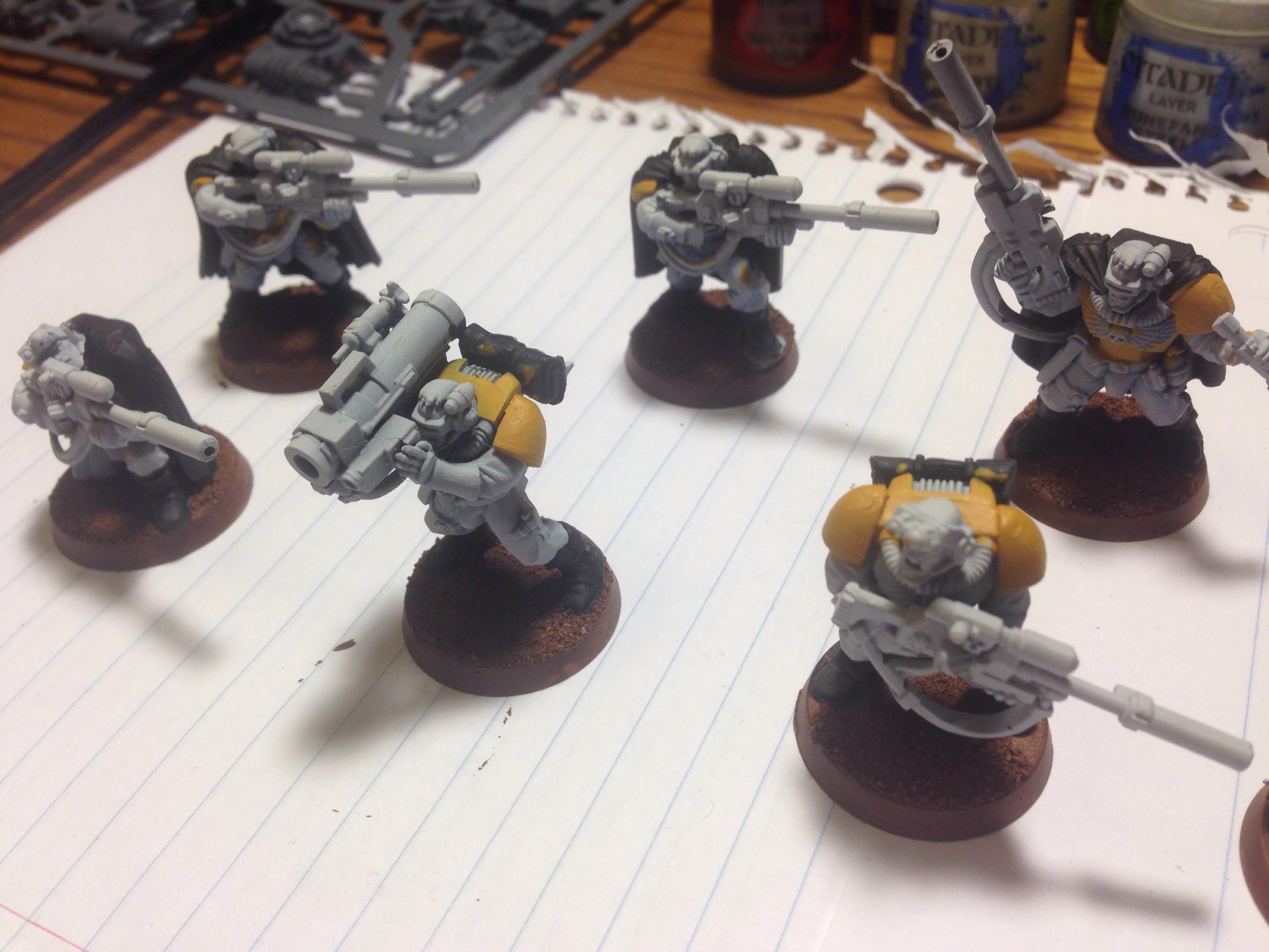 imperial fist scouts work in progress
