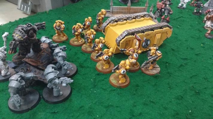 Imperial Fists tactical marines vs Perturabo