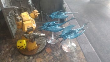 Contemptor Dreadnought Fights Screamers