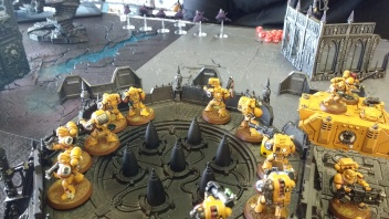 Imperial Fists Defend Outpost