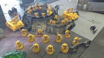 Imperial Fists Deploy Against Eldar