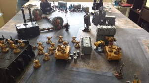 Imperial Fists Deploy Against Thousand Sons