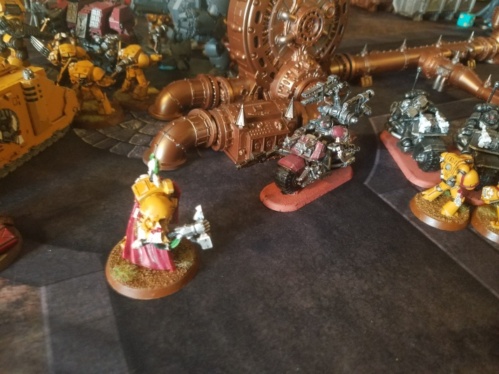 Techmarine on Bike Charges Lysander