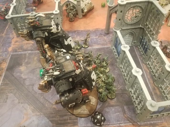 Gorkanaut & Morkanaut Charge Plaguebearers